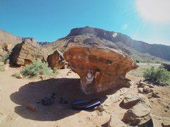 Rock Climbing Photo: climbing on a mushroom