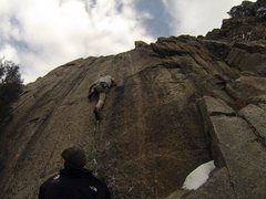 Rock Climbing Photo: The boulder start.