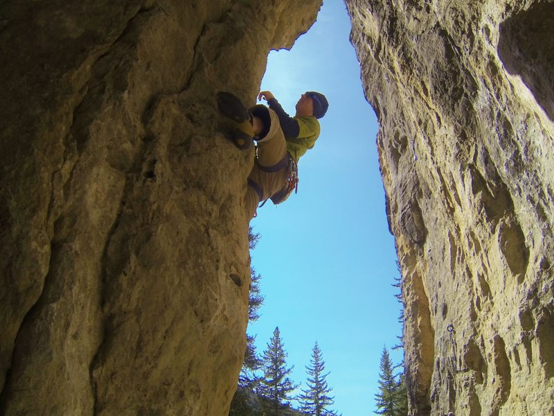 Rock Climbing Photo: Twist One Up, 5.10a