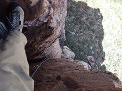 Rock Climbing Photo: Near the top of the Handren book 3ed/offwidth pitc...