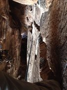 Rock Climbing Photo: Near the top of the cave pitch. Amazing pitch!