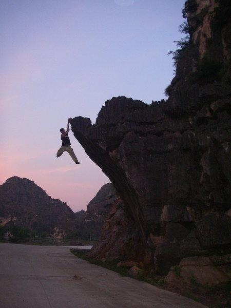 Rock Climbing Photo: High ball bouldering.