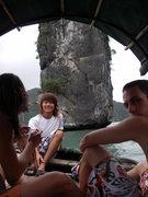 Rock Climbing Photo: Deep water soloing in Ho Long Bay