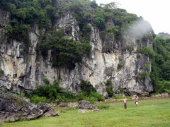 Rock Climbing Photo: Hiking to the crag on Cat Ba Island in Ho Long Bay...