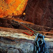 Rock Climbing Photo: Castleton face rappel; two raps 1 70m, 1 80m; a wh...