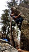 Rock Climbing Photo: Fridge arête. So good, technical and balancy with...