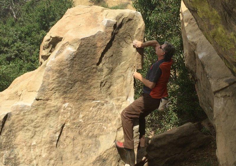 Rock Climbing Photo: Chris Owen on Pump Arete.