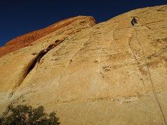 Rock Climbing Photo: Near the fourth bolt