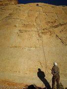 Rock Climbing Photo: First bolt where the rock changes color around 15'...