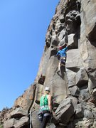 Rock Climbing Photo: Justin leading Ridin' Sidesaddle