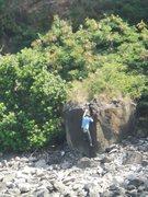 Rock Climbing Photo: Nearing the top of Honolua Crack.