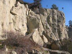 Rock Climbing Photo: Gregory 10 of 17 (27)Center Face .11a (H)Right Fac...