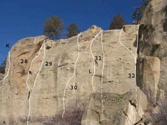Rock Climbing Photo: Gregory 11 of 17 (K)St Brigid's Cross .11d (28...