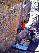 Rock Climbing Photo: J.Peabody making big moves