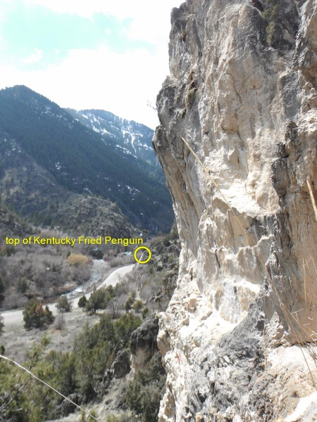 Rock Climbing Photo: The angle of Tangent Wall shown here. You can also...