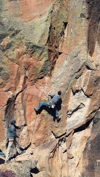 Rock Climbing Photo: Seth Dyer kicking ass on the cruxy boulder problem...