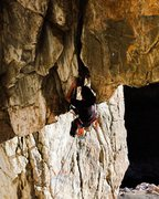 Rock Climbing Photo: Kevin Wilkinson copping a rest? on The Judge .13a/...