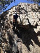 Rock Climbing Photo: The overhang.