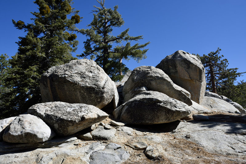 Rock Climbing Photo: The Flower Pot Boulder is the tall one kind of in ...