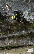 Rock Climbing Photo: Crux Move on House of Pain.
