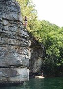 Rock Climbing Photo: Whippoorwill climb at Summersville Lake, WV