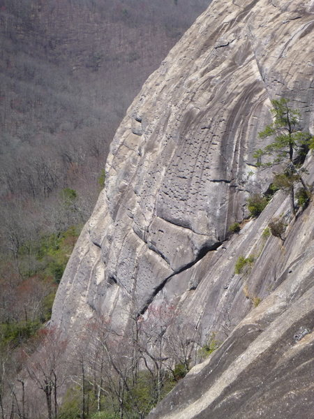 Rock Climbing Photo: Sun Wall right side from South Side
