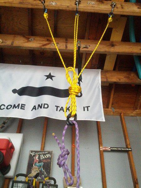 Rock Climbing Photo: Top rope anchor example.