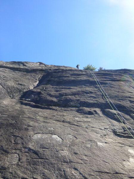 Rock Climbing Photo: Rap from Gemini to Sentury Box Ledge