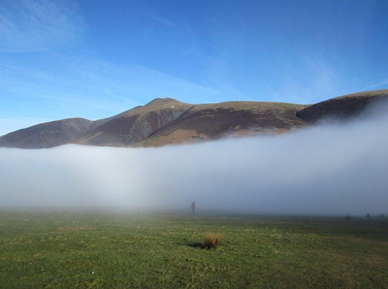 Skiddaw Mt and man