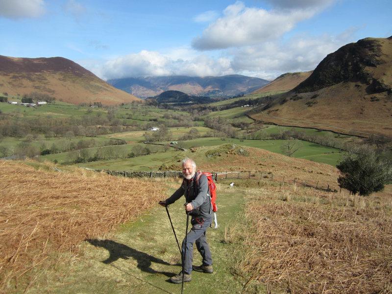 Hiker in Newlands Valley
