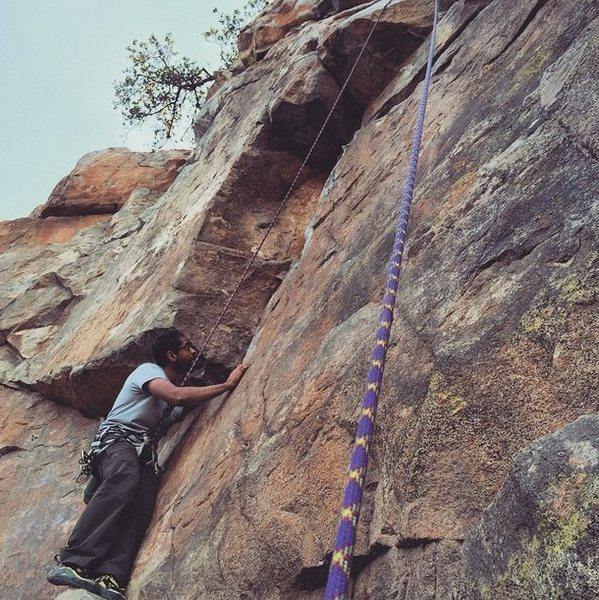 Rock Climbing Photo: Ghazaly starting Kathy's Memorial
