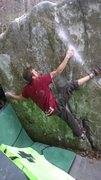 Rock Climbing Photo: Freezerburn v8 FA, 221 boulders