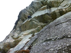 Rock Climbing Photo: moving up towards the roof traverse