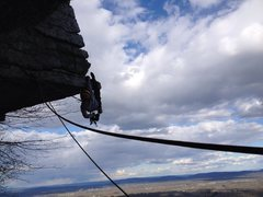 Rock Climbing Photo: Dangling