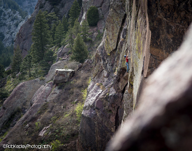 Rock Climbing Photo: Joe Mills on the overlooked classic Book of Number...