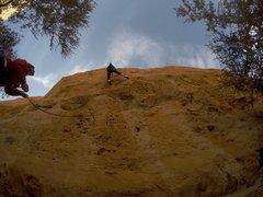 Rock Climbing Photo: Jeffrey Constine on Diminishing Returns 5.12a. Cha...