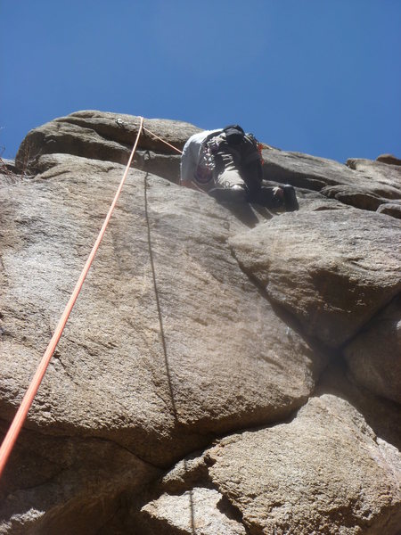 Brian, just past the crux.