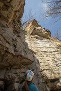 Rock Climbing Photo: Shows the entire line for Hidden Treasure.