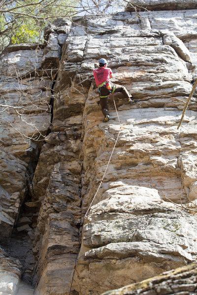 Top portion of climb.