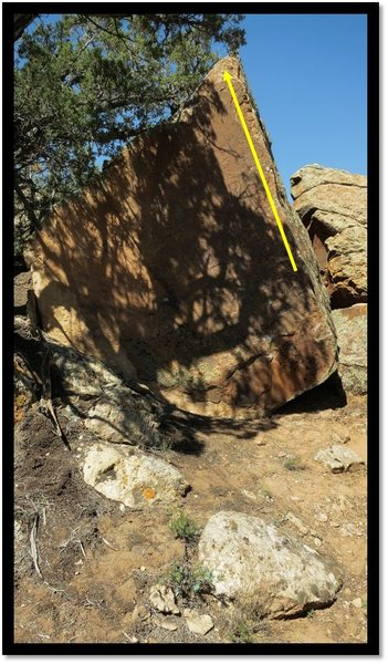Rock Climbing Photo: A Slow Read problem beta.