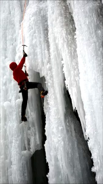 Rock Climbing Photo: on ice