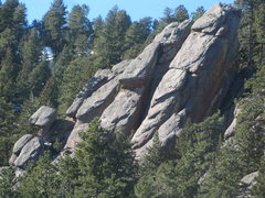 Rock Climbing Photo: Upper Deviation from the northeast.