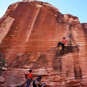 Rock Climbing Photo: Just passed the crux