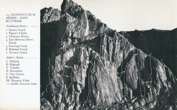 Rock Climbing Photo: East Buttress with routes.