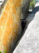 Rock Climbing Photo: Looking up at Orange Juice Ave