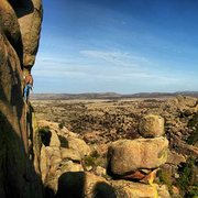Rock Climbing Photo: An yet unknown route in Charons Gardens, Wichita M...