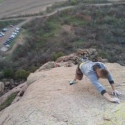 Rock Climbing Photo: Eric McCaul on Snake's Head 5.5X Quartz Mountains
