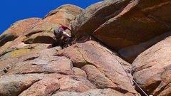 Rock Climbing Photo: Climber on Eastern Front.
