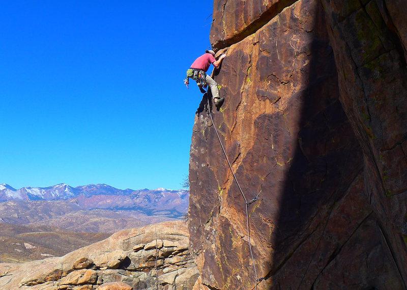 Climber on Zorro.