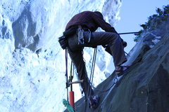 Matt putting anchors into one of the many new routes.